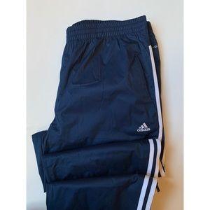 Adidas • Men's Essentials 3-Stripe Wind Pants Blue
